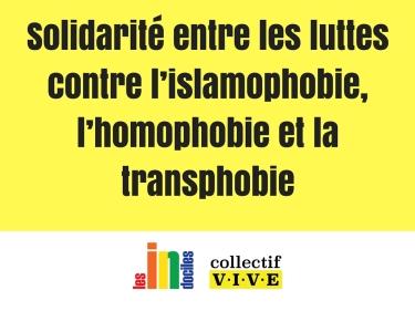 Solidarité entre les luttes contre l'islamophobie, l'homophobie et la transphobie